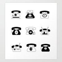 Fifties' Smartphones Art Print
