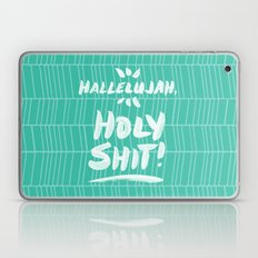 Hallelujah, Holy Shit – Turquoise Laptop & iPad Skin