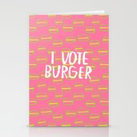 I Vote Burger Stationery Cards
