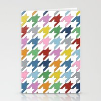 Houndstooth Colour Stationery Cards