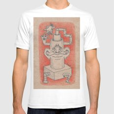 Tea Time Mens Fitted Tee White SMALL