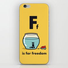F is for freedom - the irony iPhone & iPod Skin