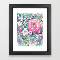 Wild Peony Floral Framed Art Print