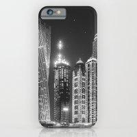 iPhone & iPod Case featuring Dubai Marina - Black and White Collection by Black and White Collection