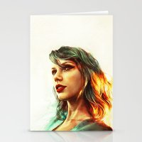 portrait Stationery Cards featuring When the Sun Came Up by Alice X. Zhang