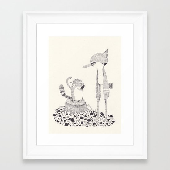regular show Framed Art Print