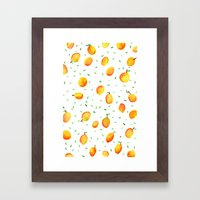 Mango Season Framed Art Print