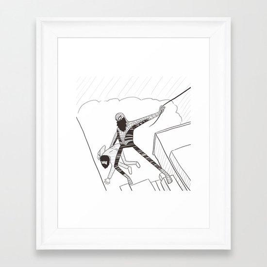 Spider-Beard Framed Art Print