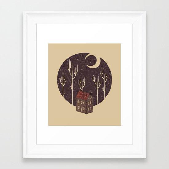 At Night Framed Art Print