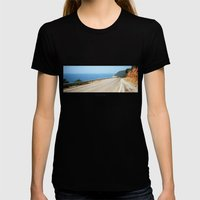 ROAD BLUE Womens Fitted Tee Black SMALL