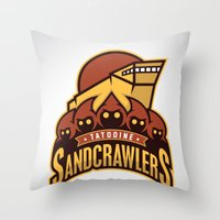 Tatooine SandCrawlers Throw Pillow