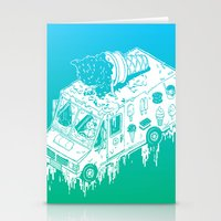 Melty Ice Cream Truck - Mint Stationery Cards