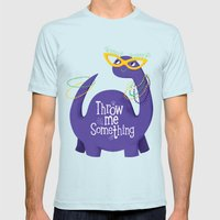 Bacchusaurus! Mens Fitted Tee Light Blue SMALL