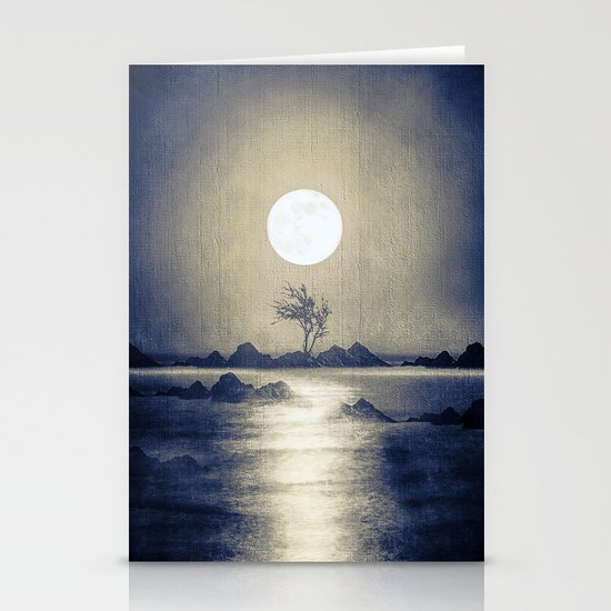 When the moon speaks (part III) colour option Stationery Card