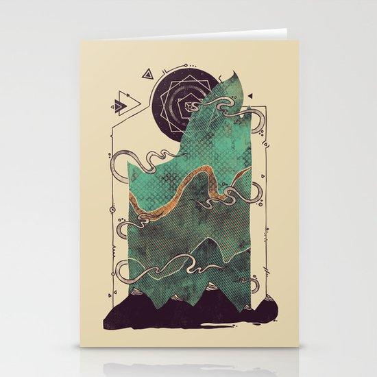 Northern Nightsky Stationery Card