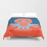 Focussian Furry Alien Duvet Cover