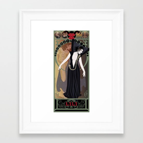 Dark Lili Nouveau - Legend Framed Art Print