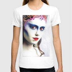 Queen of hearts  Womens Fitted Tee White SMALL