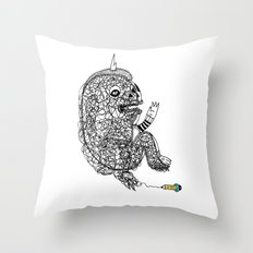 A Doodle Lives Inside of ME.  Throw Pillow