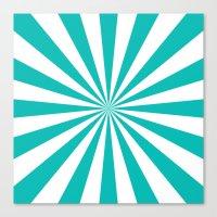 Starburst (Tiffany Blue/White) Canvas Print