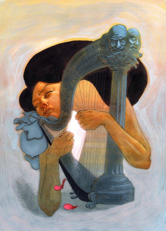 A Musician Art Print