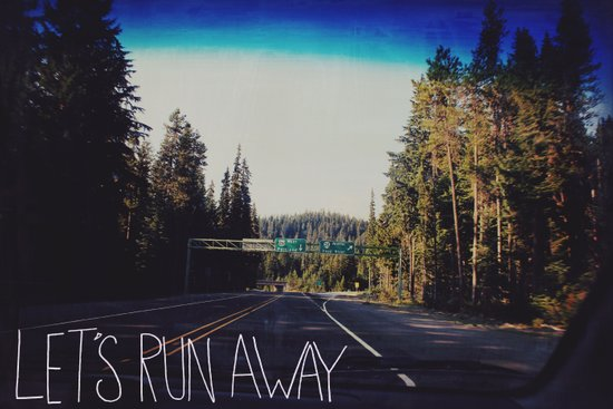 Let's Run Away IV Art Print
