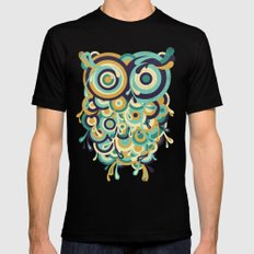 Hoot SMALL Black Mens Fitted Tee