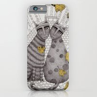 iPhone & iPod Case featuring Two Cats Without Hats by Judith Clay
