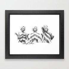 Monroe Trio Framed Art Print