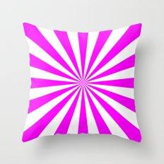 Starburst (Fuchsia/White) Throw Pillow