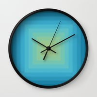 Colour Field v. 5 Wall Clock