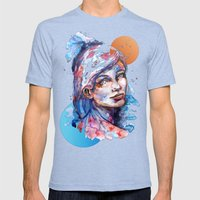 Sophia By Carographic Mens Fitted Tee Tri-Blue SMALL