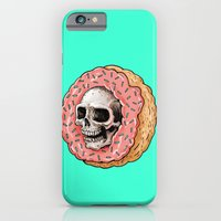 iPhone Cases featuring Skull Donut by beeisforbear