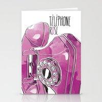 Téléphone Rose  Stationery Cards