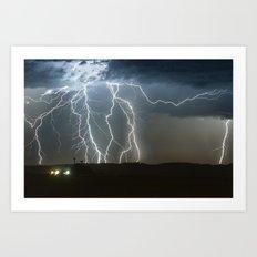 Lightning Cluster Art Print