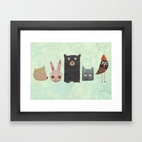 Animal Love Framed Art Print