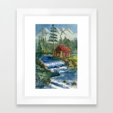 Peaceful Cabin Framed Art Print