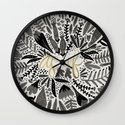 As If – Black & Gold Wall Clock