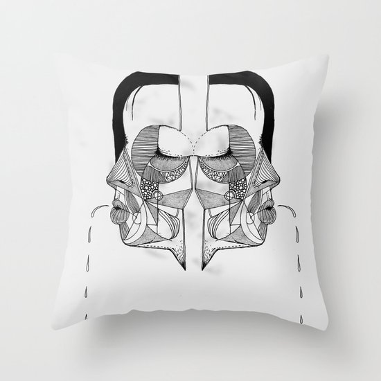 'Face Study I' Throw Pillow