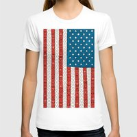 flag T-shirts featuring USA by Bianca Green
