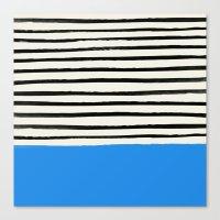 Ocean x Stripes Canvas Print