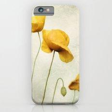 Yellow Poppies Slim Case iPhone 6s