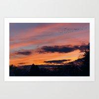 twilight Art Prints featuring Twilight by Stephen Linhart