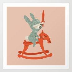 Rabbit Knight Art Print