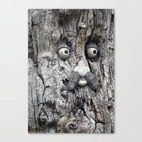 Tree Face Canvas Print