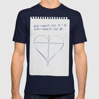 Love Equation Mens Fitted Tee Navy SMALL