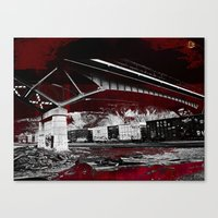 Under the tracks ~ Abstract Canvas Print