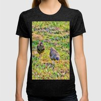 Hens On The Farm Womens Fitted Tee Tri-Black SMALL