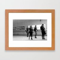 Waiting in a Montreal metro station.  Framed Art Print