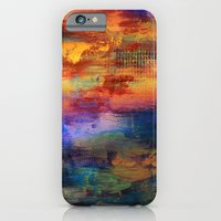 iPhone & iPod Case featuring Dusk - Textured Abstract Art by Liz Moran